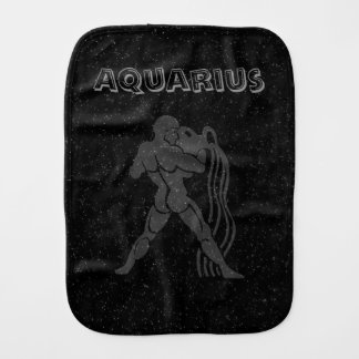 Translucent Aquarius Burp Cloth