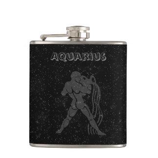Translucent Aquarius Hip Flask