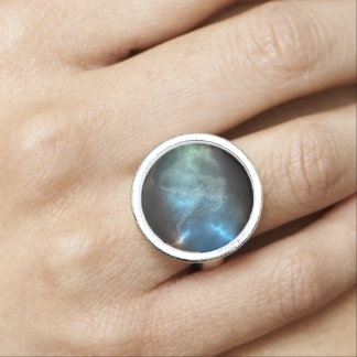 Translucent Aquarius Photo Ring