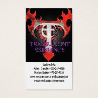 Translucent Existence Biz Cards