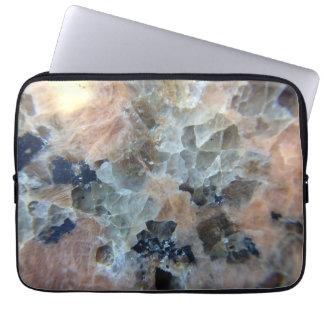 Translucent granite laptop sleeve