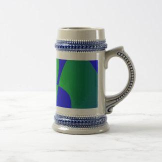 Translucent Green on Blue Background Coffee Mug