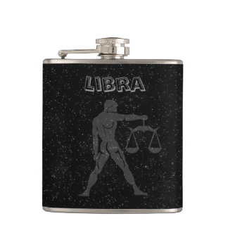 Translucent Libra Hip Flask