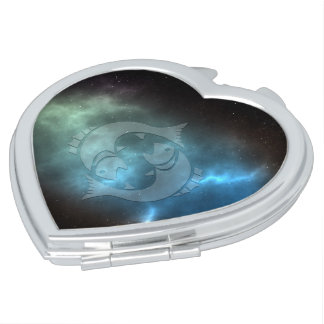 Translucent Pisces Travel Mirrors