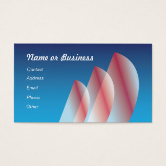 Translucent (scarlet) Tri-Sail Business Card