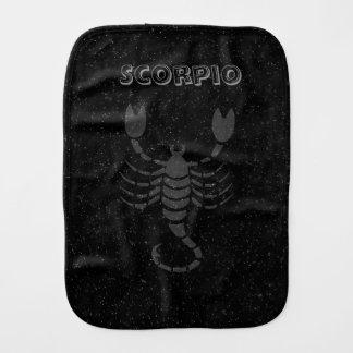 Translucent Scorpio Burp Cloth