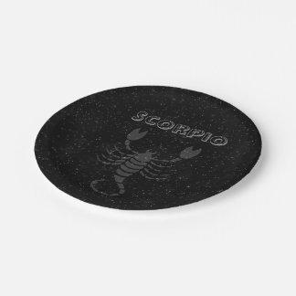 Translucent Scorpio Paper Plate