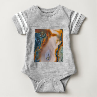 Translucent Teal & Rust Agate Baby Bodysuit