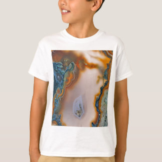 Translucent Teal & Rust Agate T-Shirt