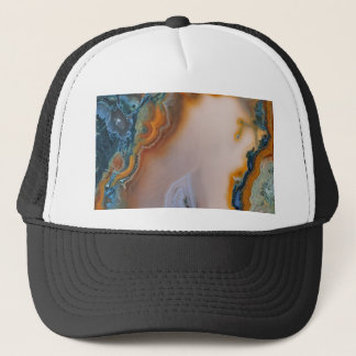 Translucent Teal & Rust Agate Trucker Hat