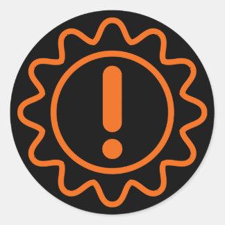 transmission blown error sticker