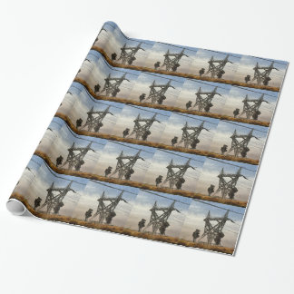 Transmission tower wrapping paper