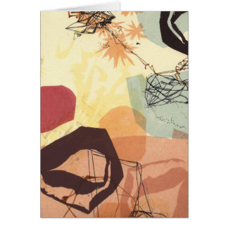 Transmissive Forms Abstract Art Card