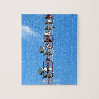 Transmitter antenna jigsaw puzzle