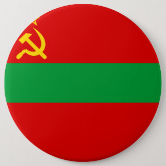 Transnistria Flag 6 Inch Round Button