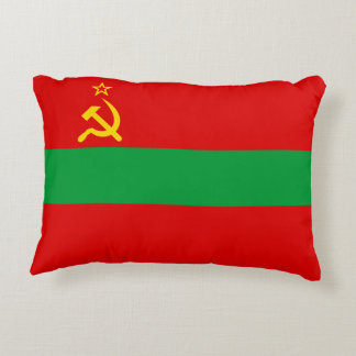 Transnistria Flag Accent Pillow
