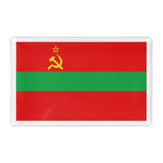 Transnistria Flag Acrylic Tray