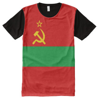 Transnistria Flag All-Over-Print T-Shirt