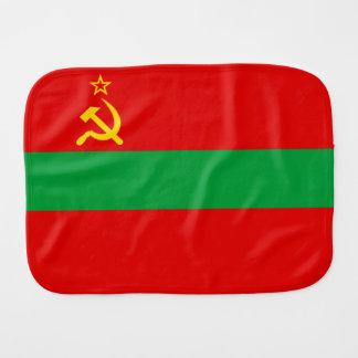 Transnistria Flag Burp Cloth