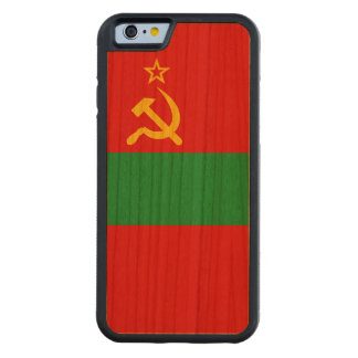 Transnistria Flag Carved Cherry iPhone 6 Bumper Case
