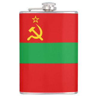 Transnistria Flag Hip Flask