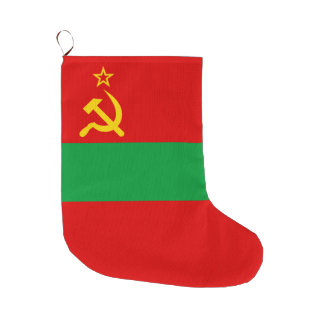 Transnistria Flag Large Christmas Stocking