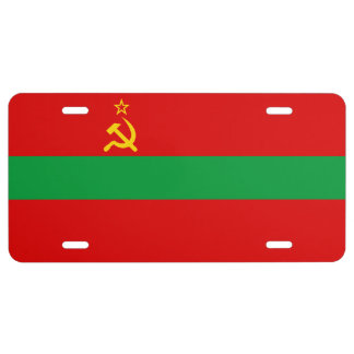 Transnistria Flag License Plate