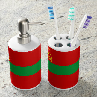 Transnistria Flag Soap Dispenser And Toothbrush Holder