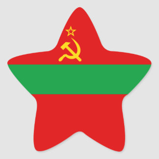 Transnistria Flag Star Sticker