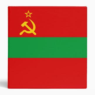 Transnistria Flag Vinyl Binder