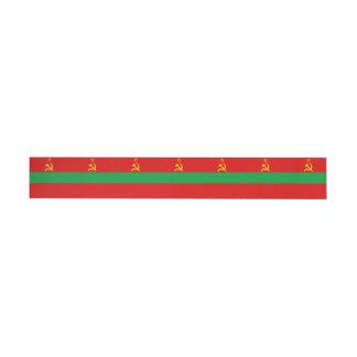 Transnistria Flag Wraparound Address Label