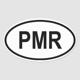 "Transnistria ""PMR"" Oval Sticker"