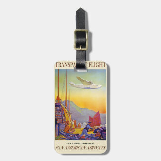 Transpacific Flight Luggage Tag