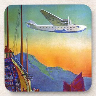 Transpacific Travel Artwork Hard Plastic Coaster