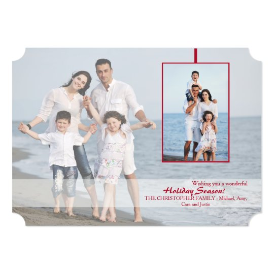 Transparency Holiday Photo Card