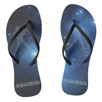 Transparent Aquarius Flip Flops