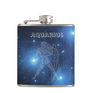 Transparent Aquarius Hip Flask