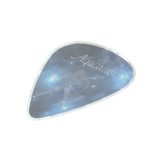Transparent Aquarius Pearl Celluloid Guitar Pick