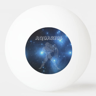 Transparent Aquarius Ping Pong Ball