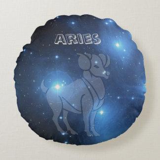 Transparent Aries Round Pillow