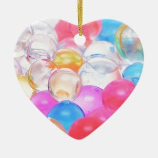transparent balls ceramic ornament