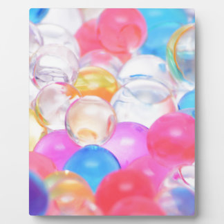 transparent balls plaque