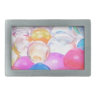 transparent balls rectangular belt buckle
