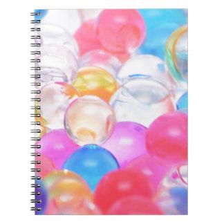 transparent balls spiral notebook