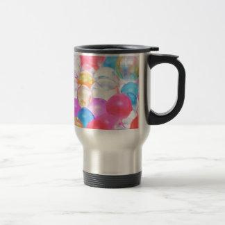 transparent balls travel mug