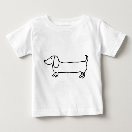 Transparent black dachshund illustration baby T-Shirt