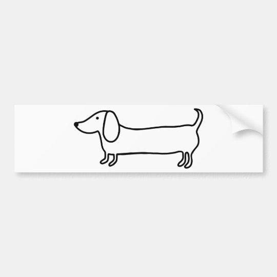 Transparent black dachshund illustration bumper sticker