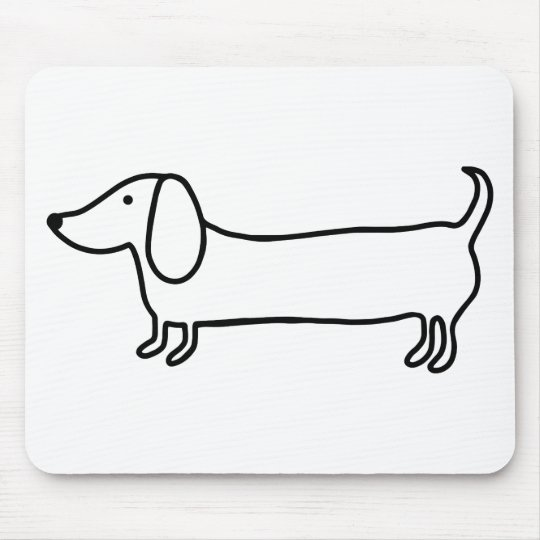 Transparent black dachshund illustration mouse pad