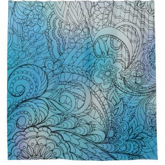 transparent black zen light pattern blue gradient
