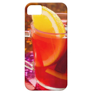 Transparent cup of tea with citrus and cinnamon iPhone 5 covers